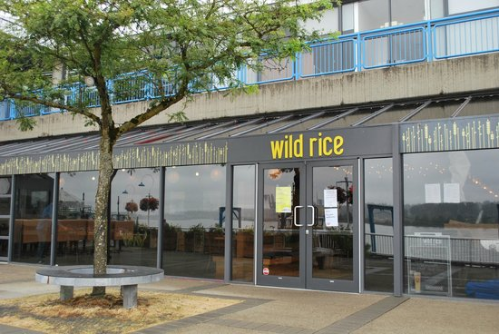 Wild Rice: Front of restaurant. Great patio, amazing scenery!