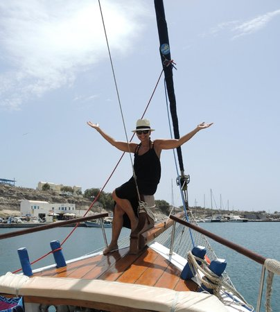 Captain George Santorini Yachting: Snagged this shot before we sailed!
