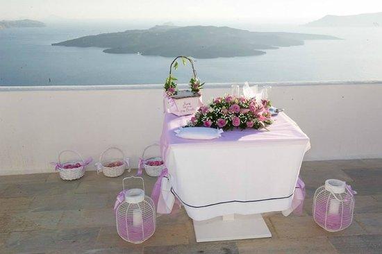 Aigialos Hotel: Wedding ceremony