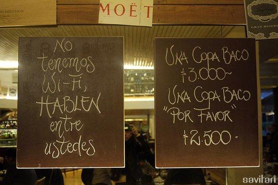 Baco Vino y Bistro: Jajaja