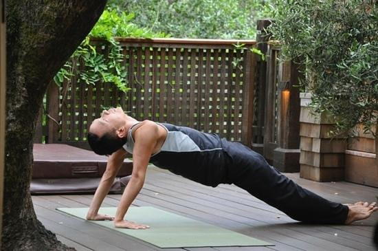 Calistoga Ranch, An Auberge Resort: Doing yoga on the villa's patio