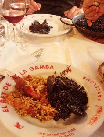 El Rey de la Gamba 1: Paella Mixta, Arroz Negro