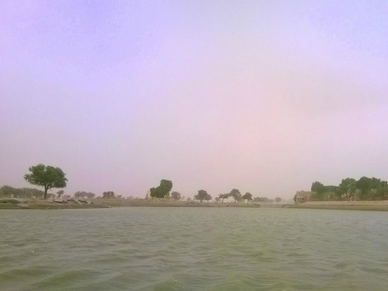 Gadsisar Sagar Lake: View from the middle of the lake