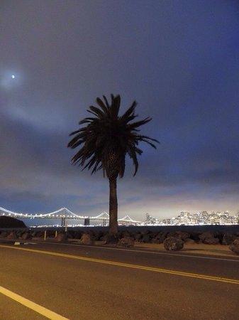 San Francisco night lights from Treasure Island