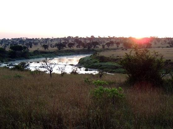 Singita Mara River Tented Camp : Sunrise at Singita.
