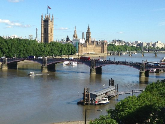 Plaza on the River - Club and Residence: View across the Thames towards Houses of Parliament