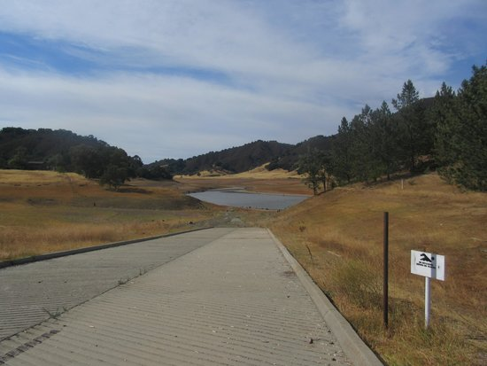 Uvas Canyon County Park: Impact of the Drought - Uvas Canyon Resevoir, Morgan Hill, Ca