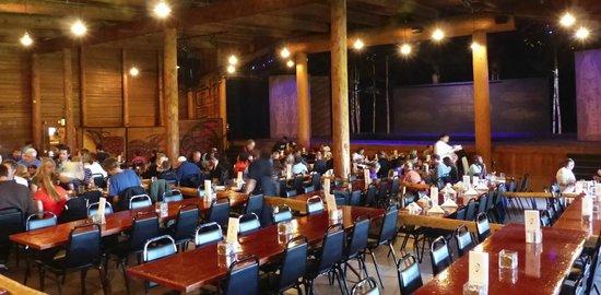 Argosy Cruises - Tillicum Excursion: Dining area and stage.