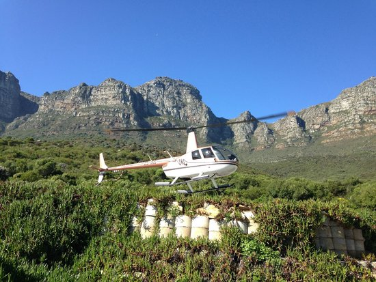 The Twelve Apostles Hotel and Spa: Helicopter landing at The Twelve Apostles Hotel
