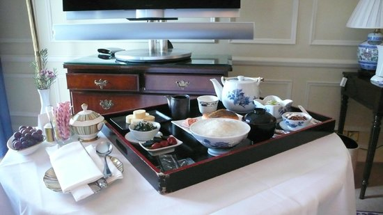 ‪‪Mandarin Oriental Hyde Park, London‬: Japanese breakfast is okay for me although Chinese breakfast is not served.‬