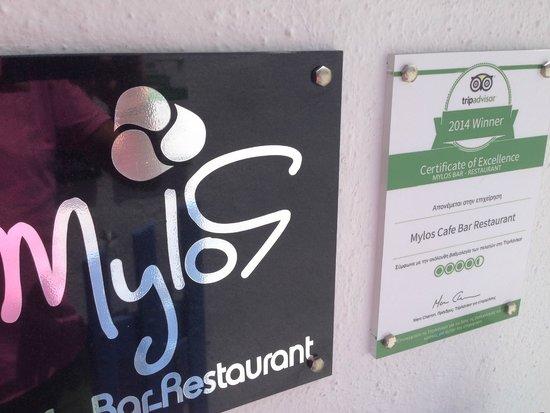 Mylos Bar Restaurant: My first one