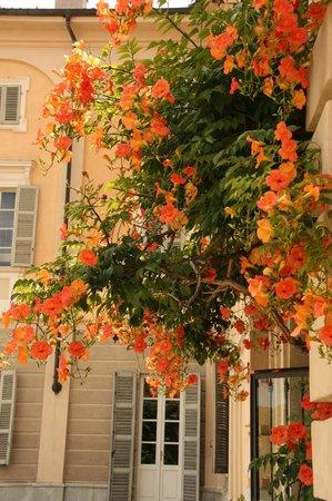 Sina Villa Matilde: Bloemenpracht aan de binnenkoer
