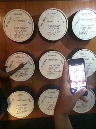 Mount Gay Visitor Centre : Rum barrels