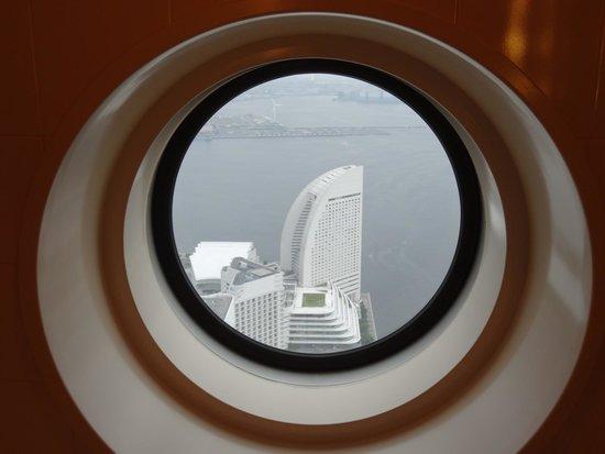 Yokohama Royal Park Hotel: View from the bathroom window