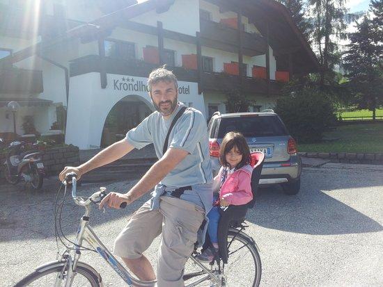 Hotel Krondlhof : prima di una bella passeggiata in bici...