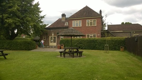 The Bell Inn: The Bell in Brook from the garden