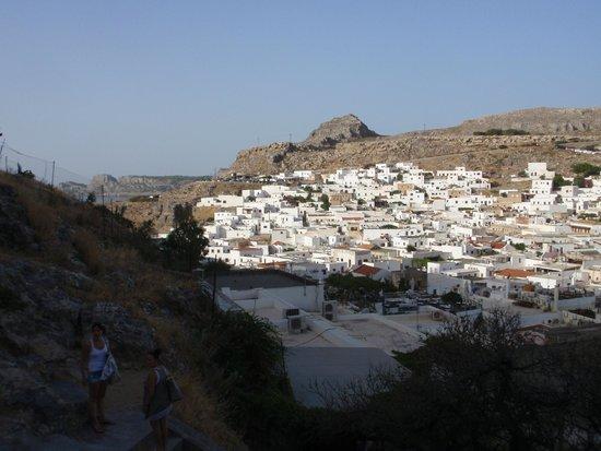 Blick auf Lindos von Akropolis