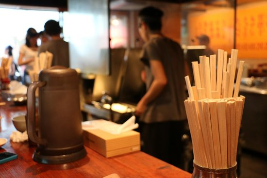 Harajuku Gyozaro: From the counter seats you get to watch them make your gyoza.