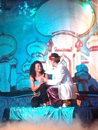 "Hotel Elba Carlota: spectacle ""Disney dream"" Aladin"