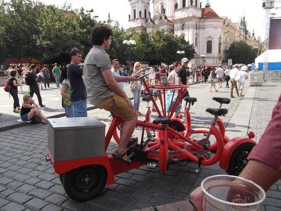 Buddha-Bar Hotel Prague: A beer bike