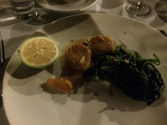 The Old Town Restaurant : Island Scallops - perfection on a plate
