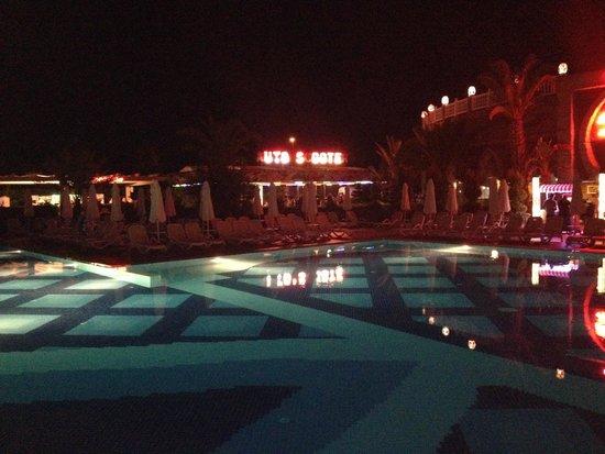 Royal Alhambra Palace: Pool at night.