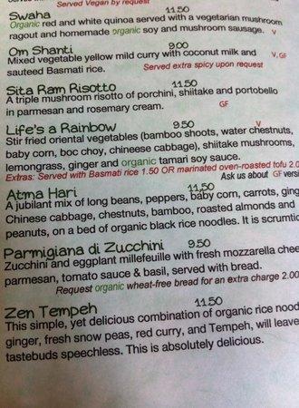 Avocado : Check out the interesting menu