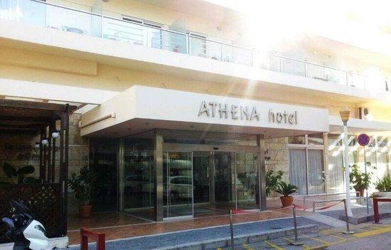 Hotel Athena: Hotel entrance