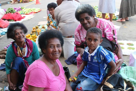 Bedarra Beach Inn: Market Day in the town of Sigatoka