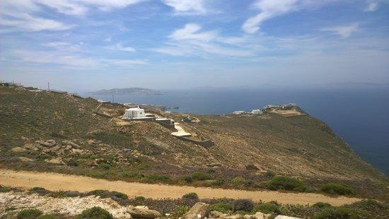 Armenistis Lighthouse: views towards Mykonos town