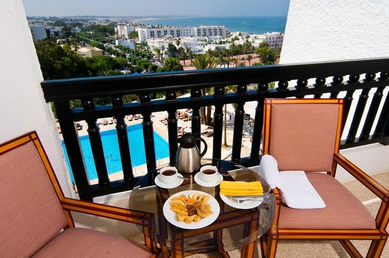 Royal Mirage Agadir Hotel : Balcony with pool view