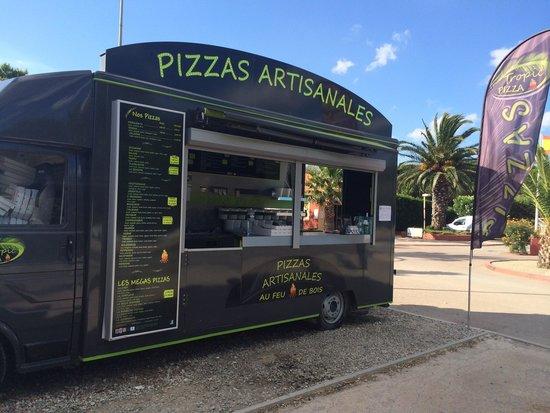 Tropic pizza: Pizza feu de bois