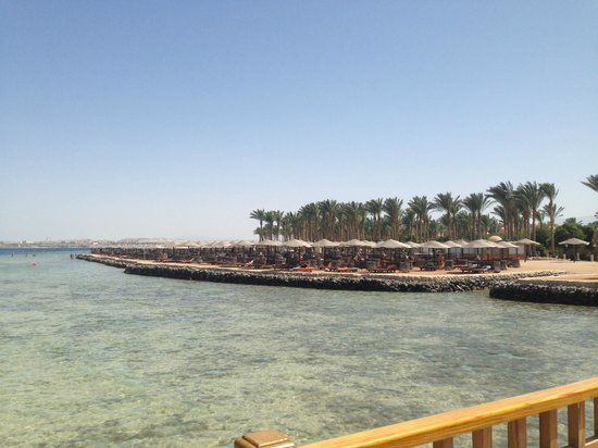 The Makadi Palace Hotel: View of the private beach from the jetty