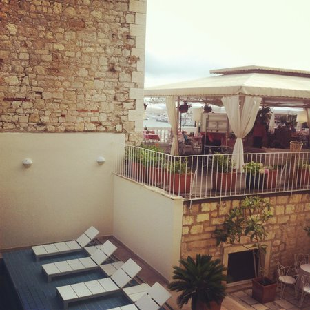 The Palace Hvar Hotel : View from room out to terrace