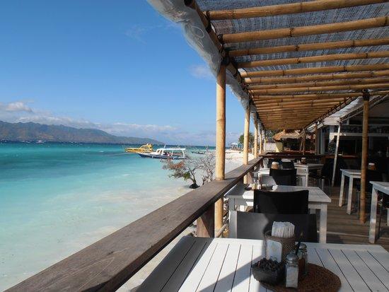Scallywags Resort: Vue depuis la terrasse du restaurant