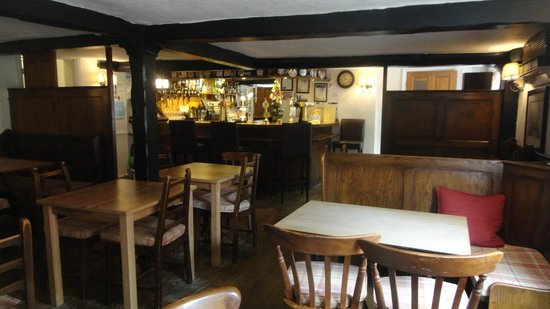 Three Tuns: The Bar also where they serve dinner.
