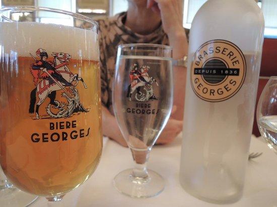 Brasserie Georges : グラスの模様も素敵