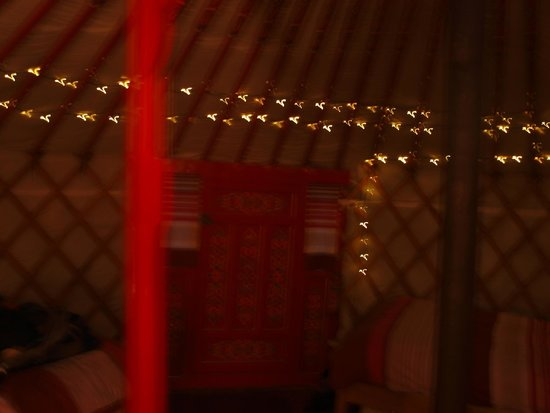 Keld Bunkbarn: Inside the yurt
