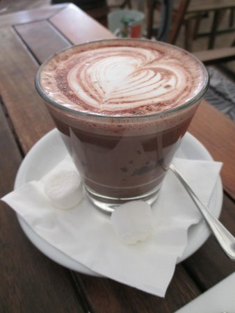 Moore & Moore Cafe: buttered salted caramel dark hot chocolate