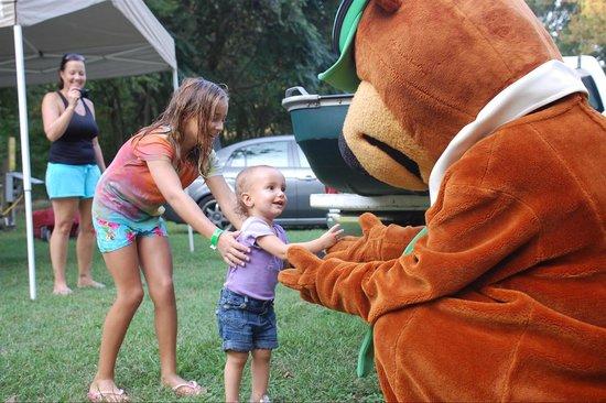 Yogi Bear's Jellystone Park at Natural Bridge: First encounter with Yogi