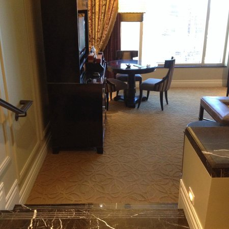 The Palazzo Resort Hotel Casino: From bedroom looking towards living area