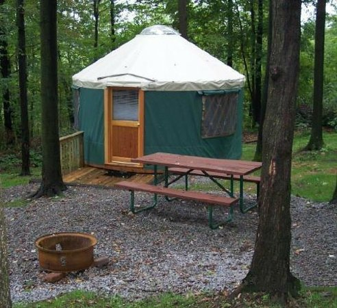 Yogi Bear's Jellystone Park Camp-Resort at Paradise Pines: one of our yurts