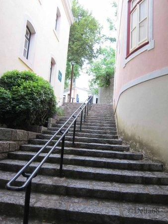Villa Termal das Caldas de Monchique Spa & Resort: Steps down to restaurant
