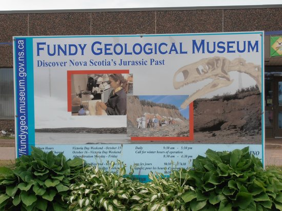 Fundy Geological Museum: Entrance Sign