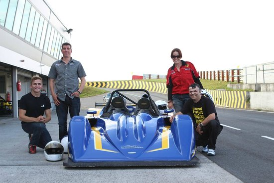 Mondello Park International Motor Racing Circuit: MicksGarage competition winners with Aron Smith at Mondello Park