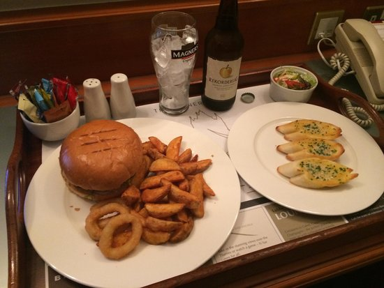 The Tower: £30 Burger meal from room service