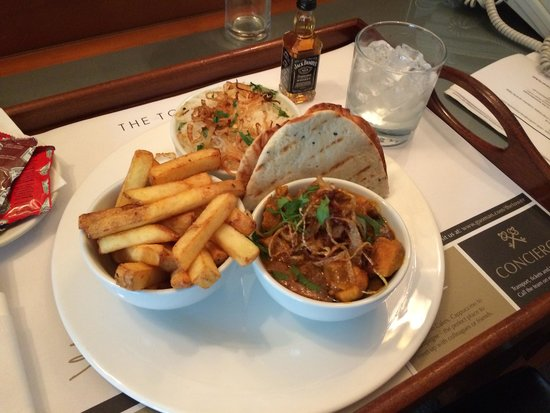 The Tower: Room service curry Meal