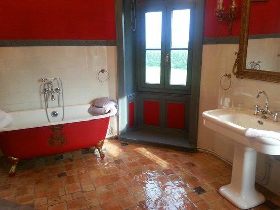 Chateau De La Houssaye: Salle de bains empire