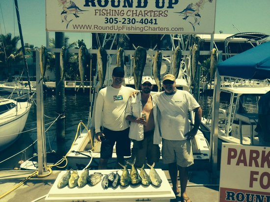 Round Up Fishing Charters - Private Tours: Captain Brain and our catch!