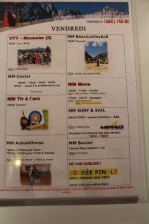 Hotel Alpenrose: programme
